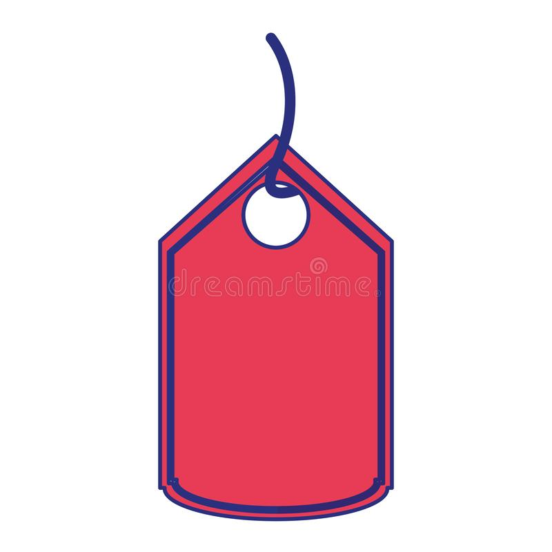 Robić zakupy etykietki etykietki symbolu odosobnione niebieskie linie ilustracja wektor