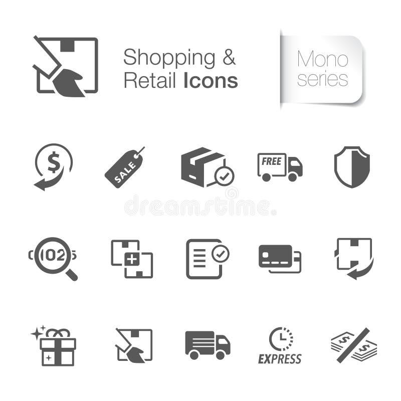 Robić zakupy & handlu detalicznego powiązane ikony ilustracji