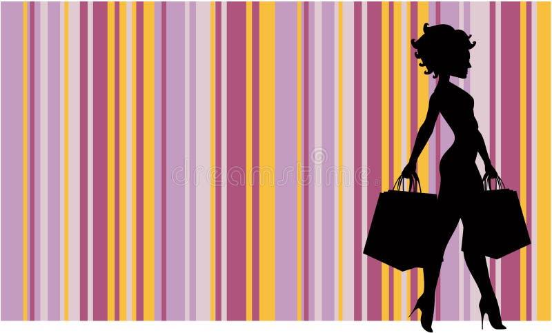 robić zakupy kobiety ilustracji