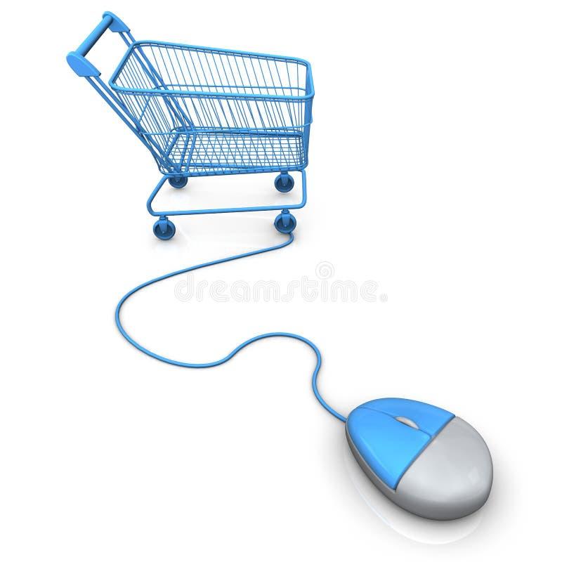 Robić zakupy Niesie myszy ilustracji