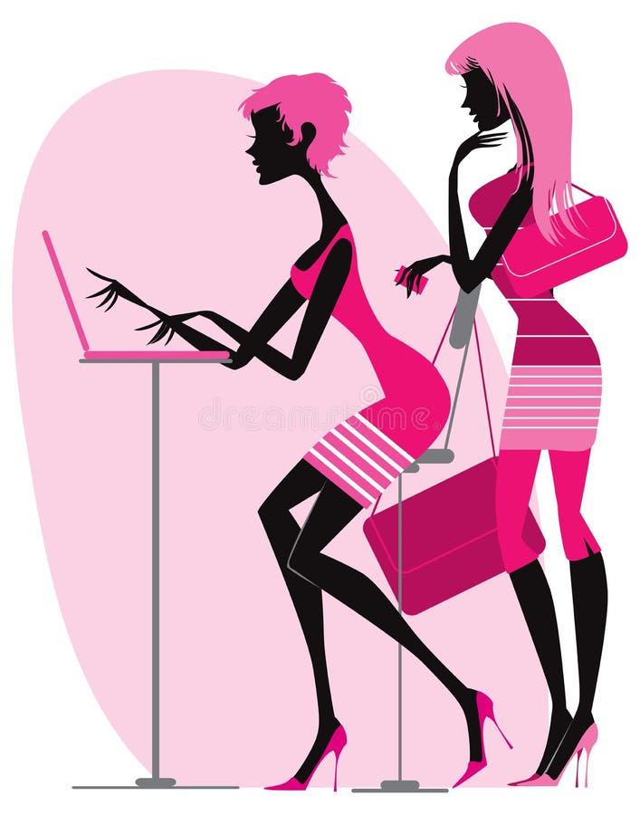 Robić zakupy online ilustracja wektor