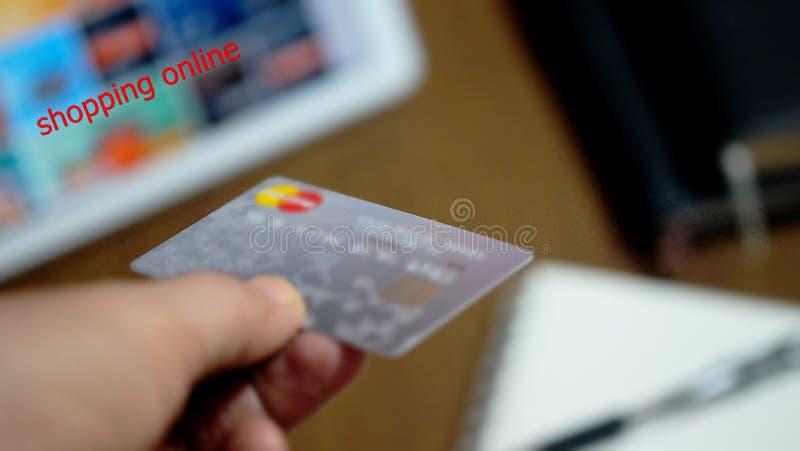 Robić zakupy Online i E - pieniądze obraz royalty free