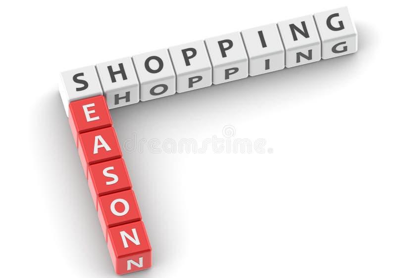 Robić zakupy sezon ilustracji