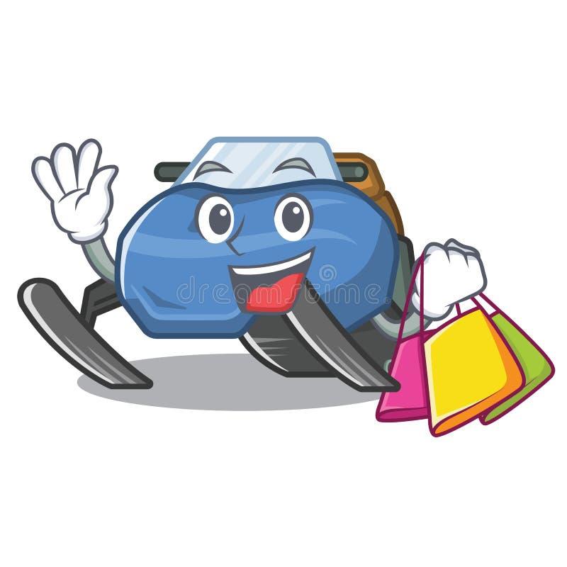Robić zakupy snowmobile zabawki w kreskówka kształcie ilustracja wektor