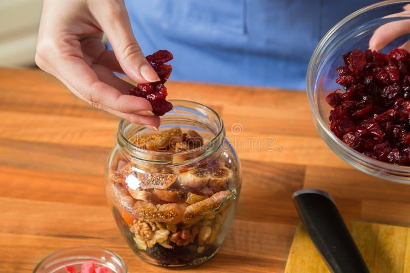 Robić zdrowemu deserowi obrazy stock