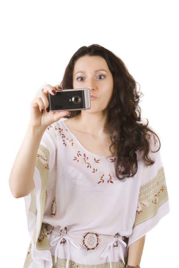 robi fotografii kobiety młody fotografia stock