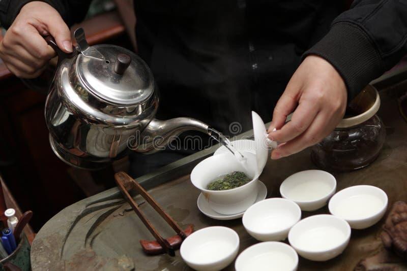 robi herbacianej kobiety obrazy stock
