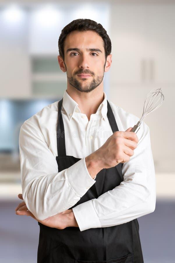 Robi kuchence Z fartucha ono Uśmiecha się zdjęcie royalty free