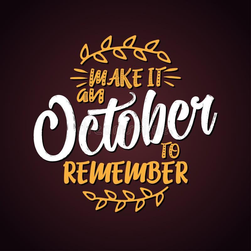 Robi mię Październikowi pamiętać ilustracji