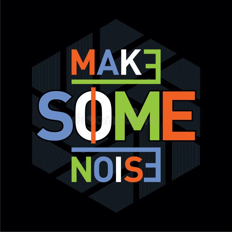 Robi niektóre hałas typografii graficznego projekta t koszula ilustracja wektor