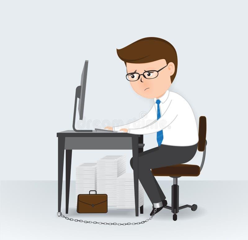 Robi pieniądze od komputeru ilustracja wektor