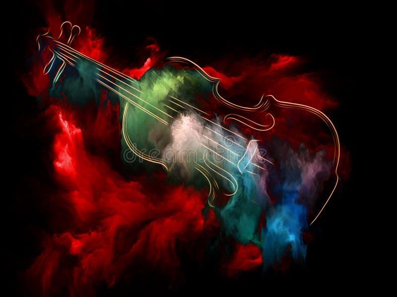 Robi skrzypce sen royalty ilustracja