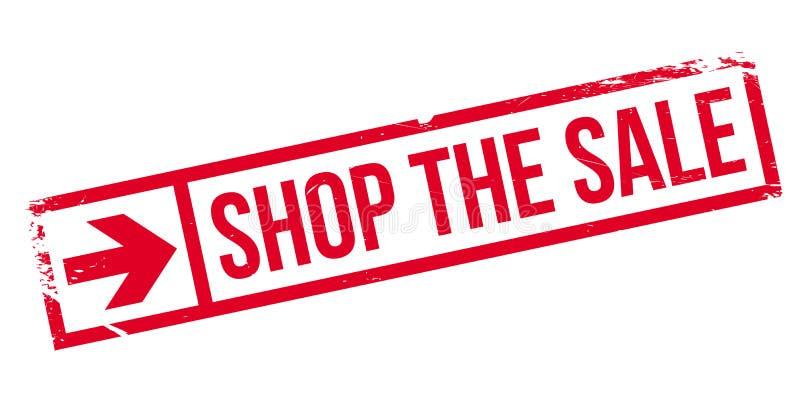 Robi zakupy sprzedaży pieczątkę ilustracja wektor