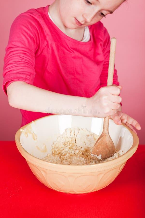 robienie muffins fotografia stock