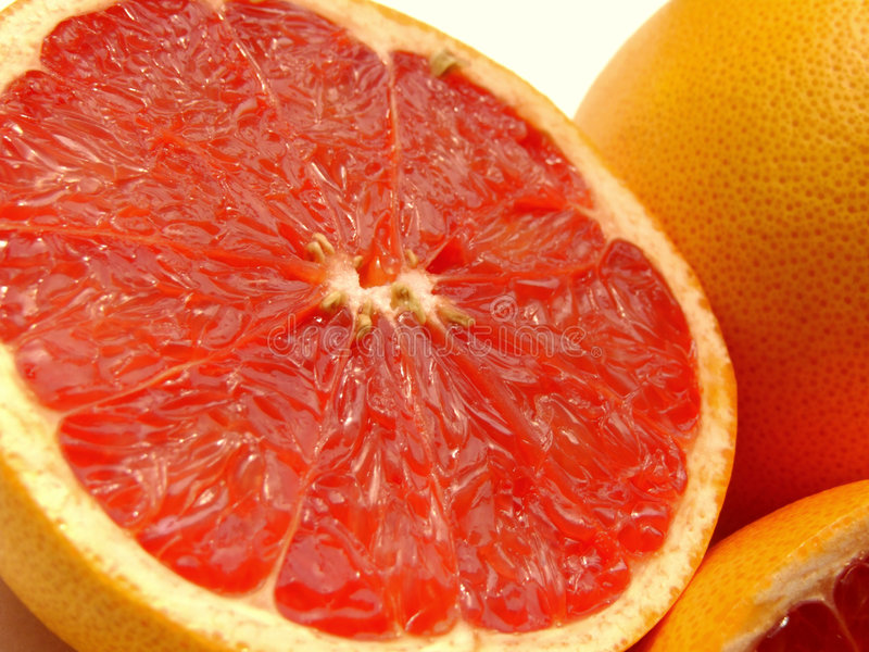 Robijnrode grapefruit stock afbeeldingen