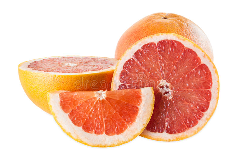 Robijnrode grapefruits royalty-vrije stock foto