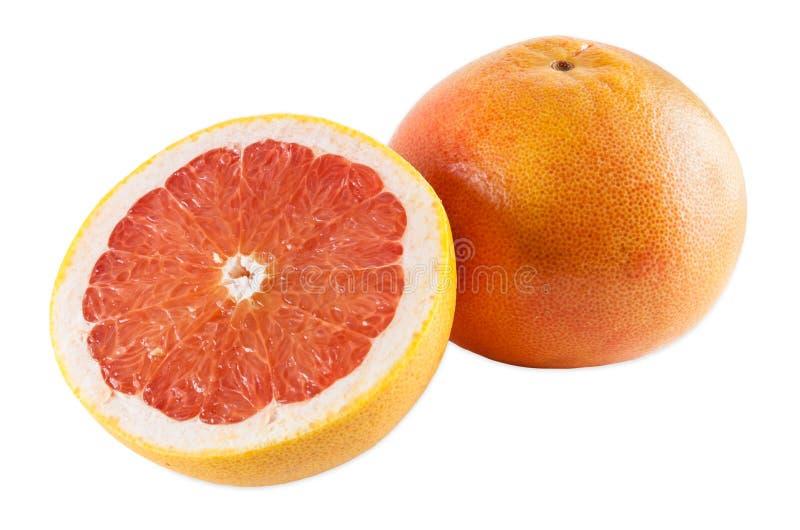 Robijnrode grapefruits stock afbeeldingen
