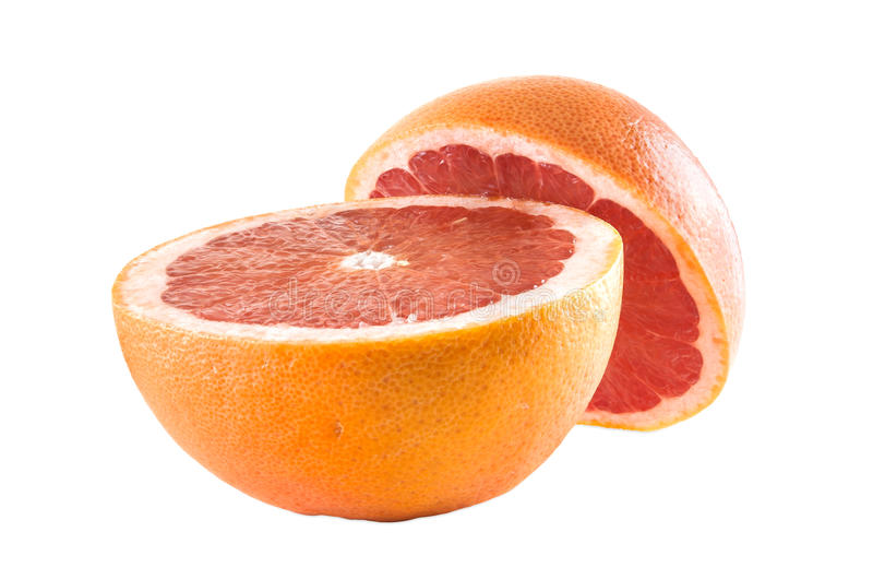 Robijnrode grapefruits royalty-vrije stock afbeeldingen