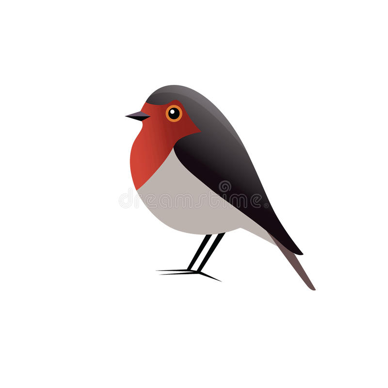 Robin Bird Vector Clipart royaltyfri illustrationer