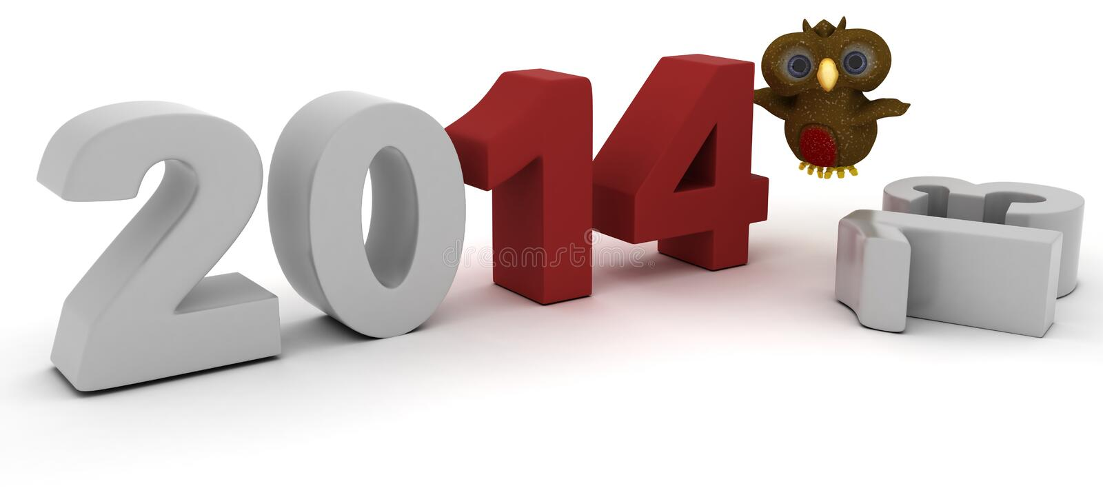 Download Robin Character Bringing In The New Year Stock Illustration - Image: 33981743