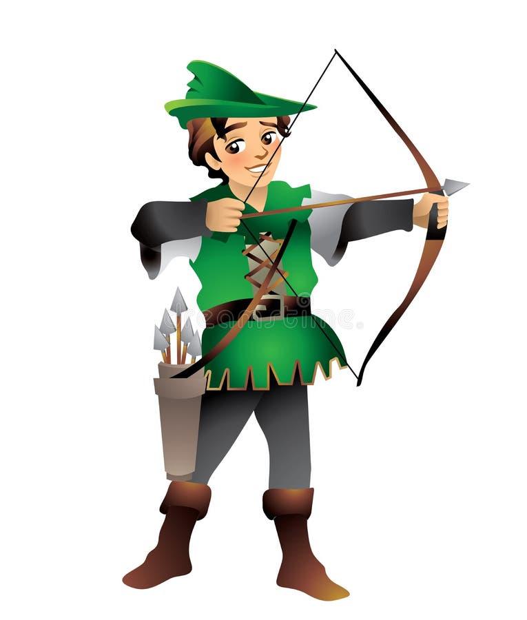 Robin Hood royaltyfri illustrationer