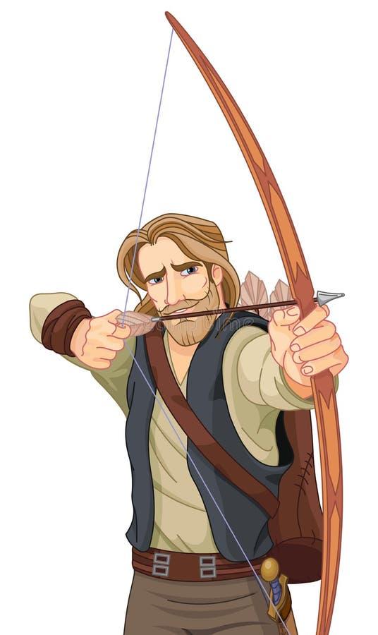 Robin Hood vektor illustrationer