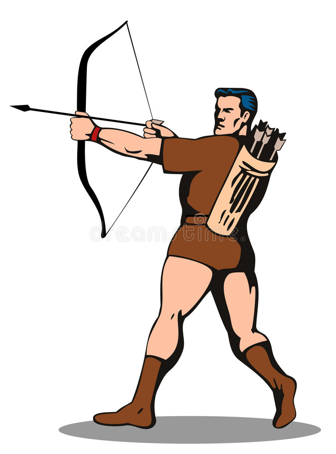 Download Robin Hood With Arrow Stock Photo - Image: 4747620
