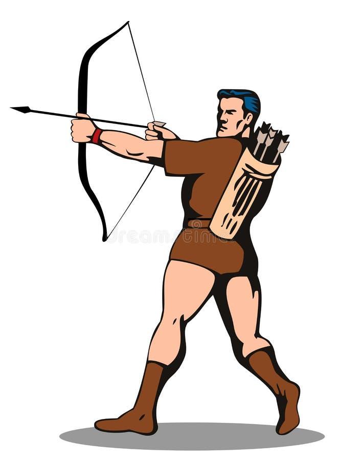 Robin Hood avec la flèche illustration libre de droits