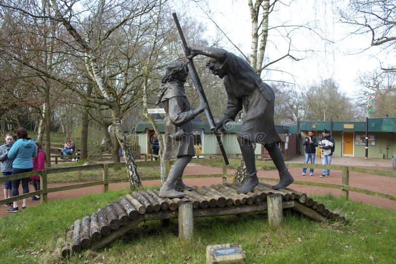 Robin Hood en Weinig John stock foto's