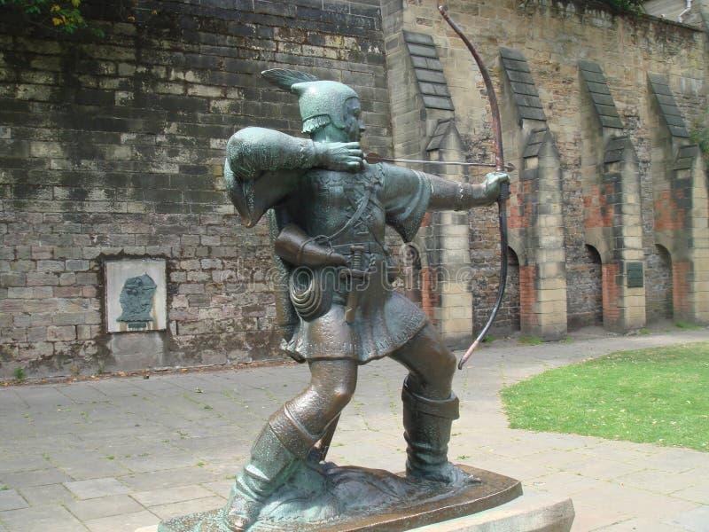 Robin Hood-standbeeld royalty-vrije stock afbeelding