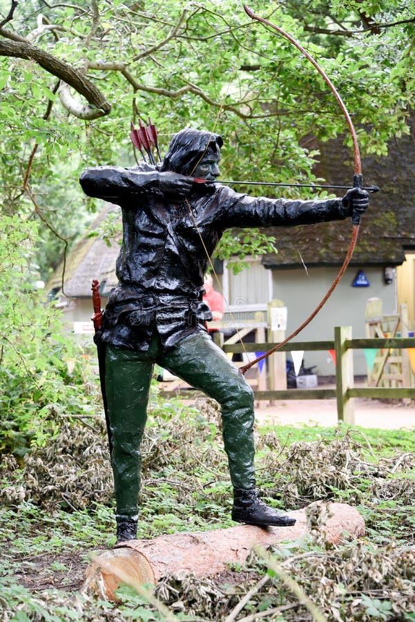 Robin Hood-standbeeld stock foto's