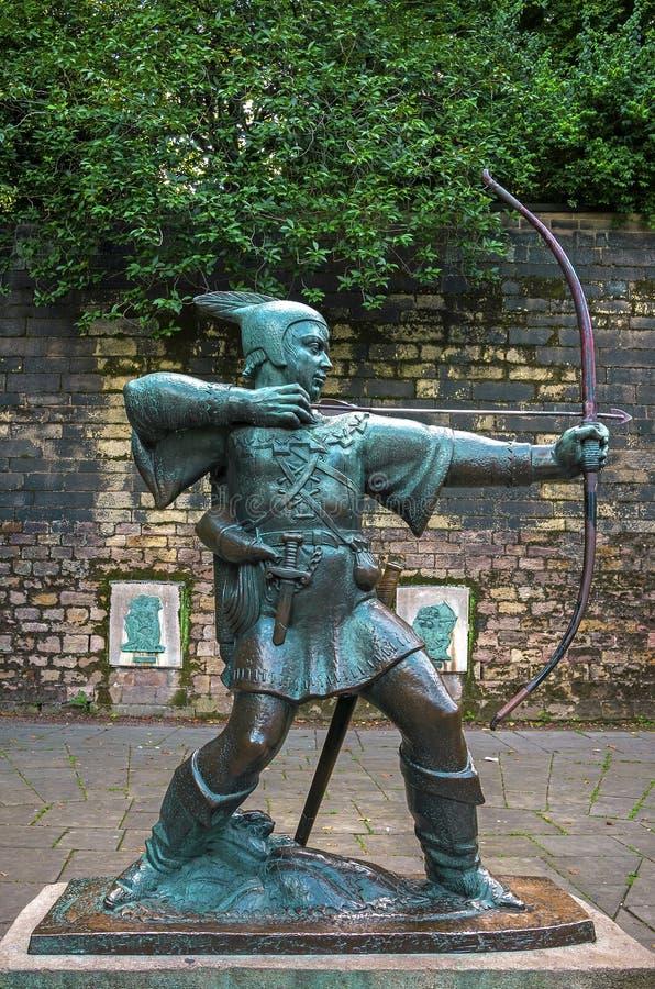Robin Hood-standbeeld stock fotografie