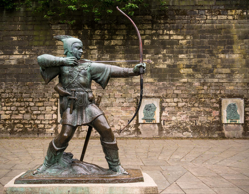 Robin Hood of Nottingham stock photo