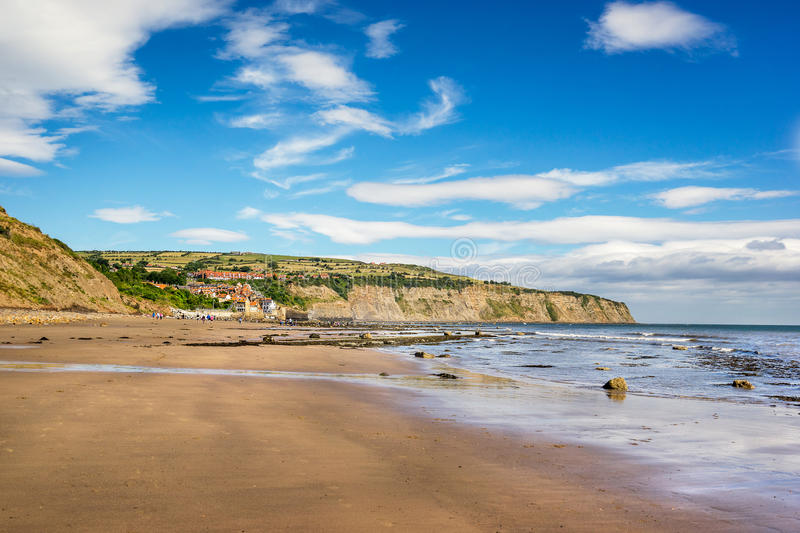 Robin Hoods Bay in Engeland stock foto