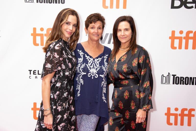 Robin Paul, Maria Geise e Kerianne Flynn al prima di ` questo cambia tutto ` a TIFF2018 fotografia stock