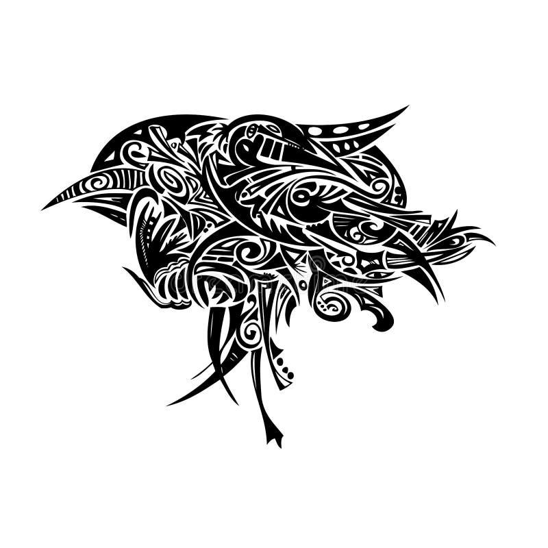 Robin tribale royalty illustrazione gratis