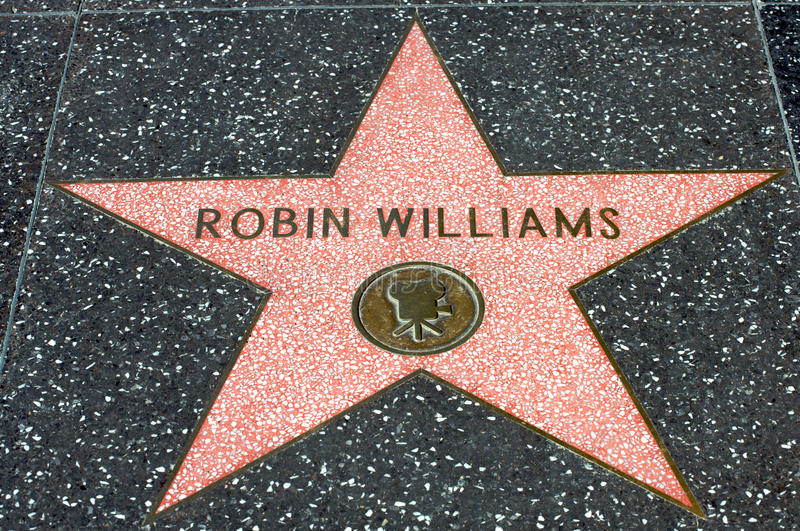 Robin Williams. HOLLYWOOD - CALIFORNIA 2010: Robin Williams star at the Hollywood's Walk of Fame. For many years Robin Williams has been one of the most admired royalty free stock image