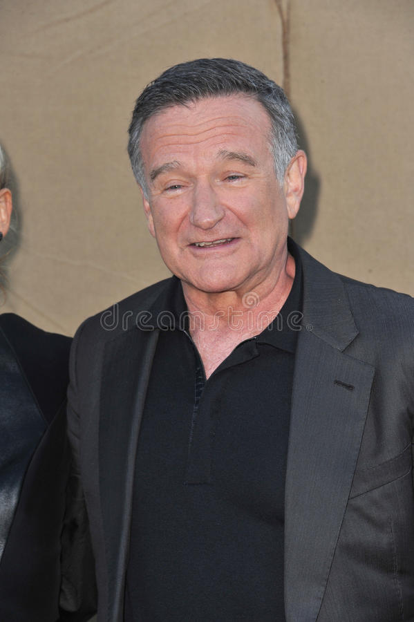 Robin Williams. LOS ANGELES, CA - JULY 29, 2013: Robin Williams at the CBS 2013 Summer Stars Party in Beverly Hills stock images