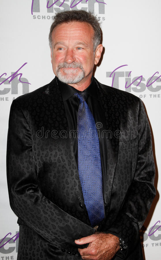Robin Williams. NEW YORK-DEC 6: Comedian Robin Williams attends the Face of Tisch Gala at Frederick P. Rose Hall, Jazz at Lincoln Center on December 6, 2010 in royalty free stock images