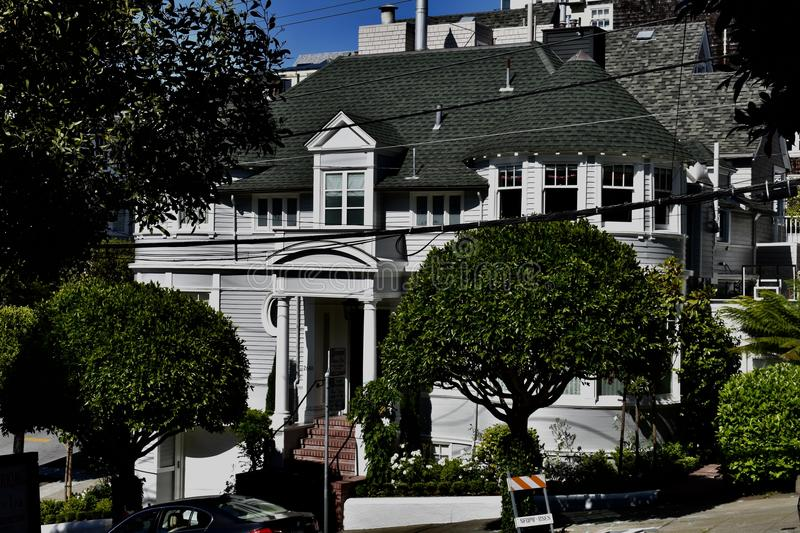 The Robin Williams and Sally Fields Mrs. Doubtfire House, 1. It did not take the 1993 blockbuster Mrs. Doubtfire film to turn this 1893 Victorian house into a stock photos