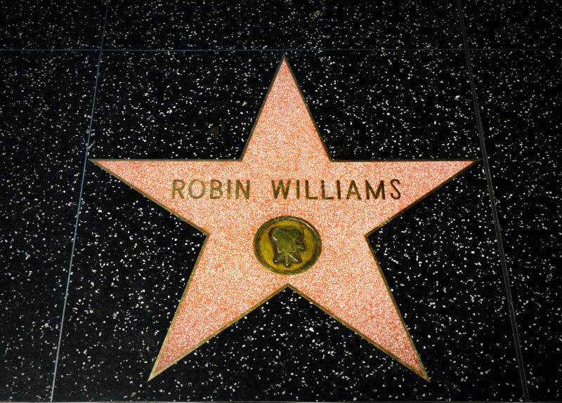 Robin Williams Star op de Hollywood-Gang van Bekendheid royalty-vrije stock afbeelding