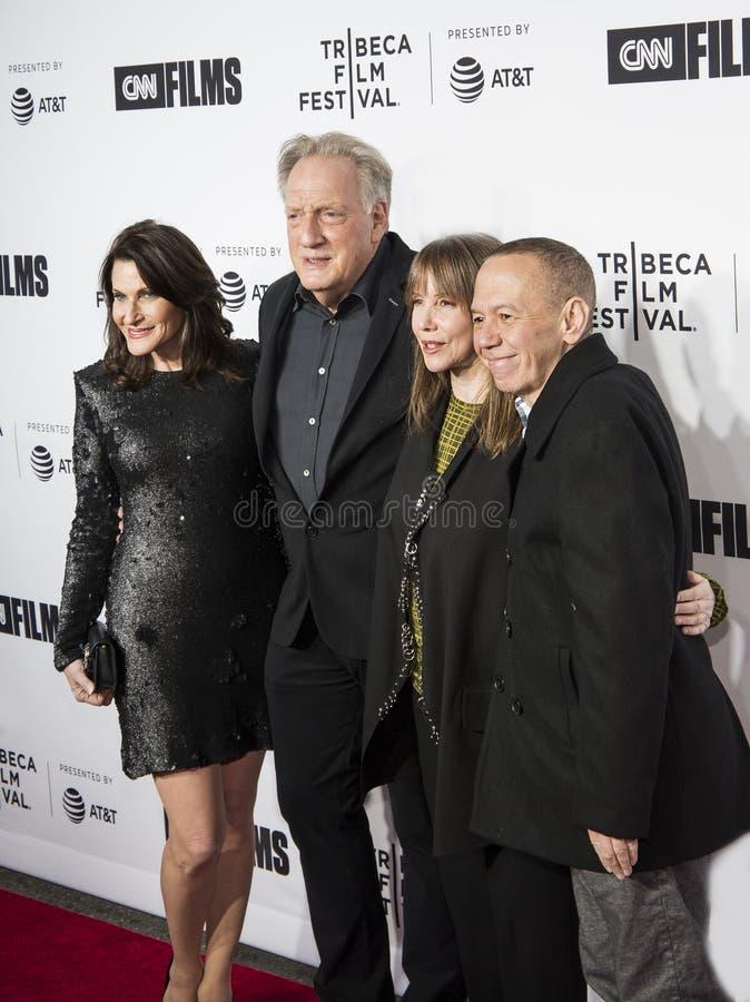 Robin Zweibel, Alan Zweibel, Laraine Newman, y Gilbert Gottfried en el 17mo festival de cine de Tribeca foto de archivo libre de regalías