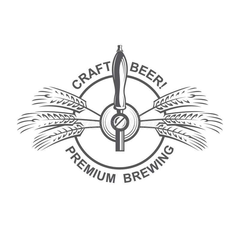 Robinet et houblon de bière illustration libre de droits