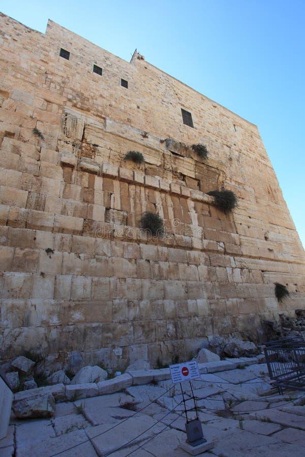 Robinsons Bogen-archäologischer Park, Israel lizenzfreies stockfoto
