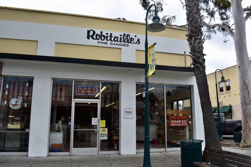 Robitaille ` s糖果Carpinteria加利福尼亚, 1 库存照片