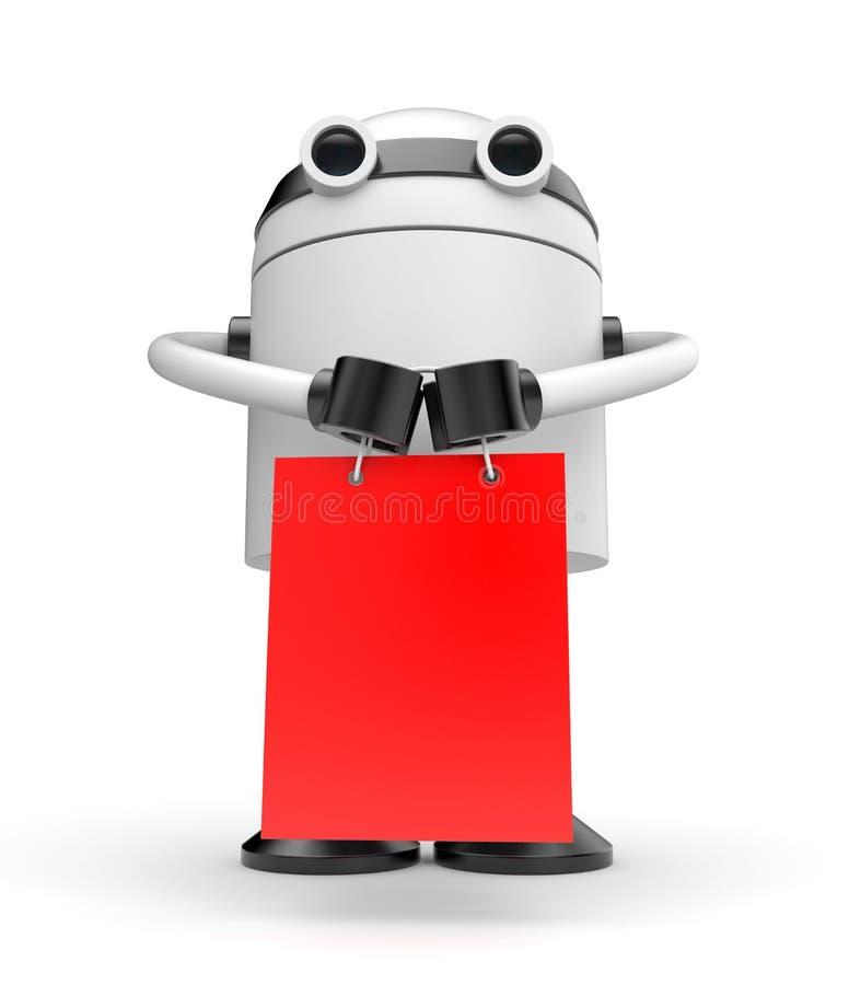 Robo购物 向量例证