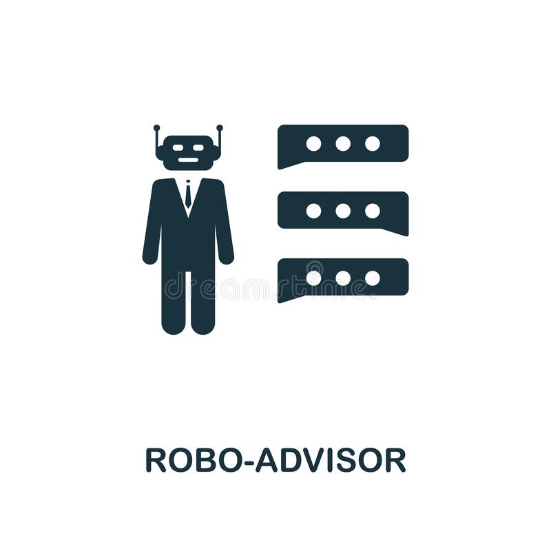 Robo-Advisor icon. Creative element design from fintech technology icons collection. Pixel perfect Robo-Advisor icon for royalty free illustration