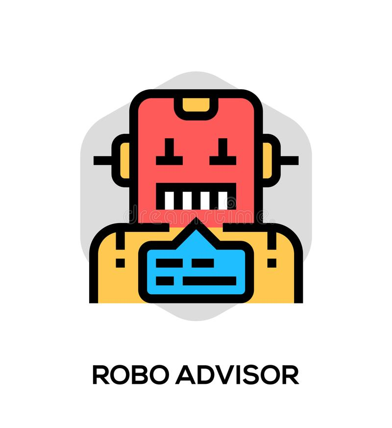 Robo Advisor Vector Flat Line Icon. Vector Concept For Web Graphics vector illustration