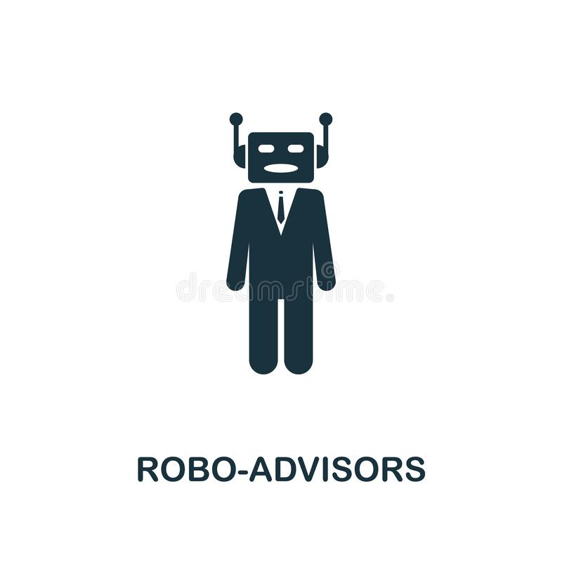 Robo-Advisors icon. Monochrome style design from fintech icon collection. UI and UX. Pixel perfect robo-advisors icon. For web des vector illustration