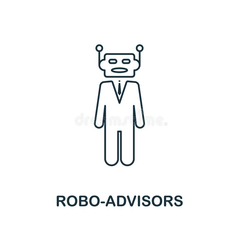 Robo-Advisors icon outline style. Thin line design from fintech icons collection. Pixel perfect robo-advisors icon for vector illustration